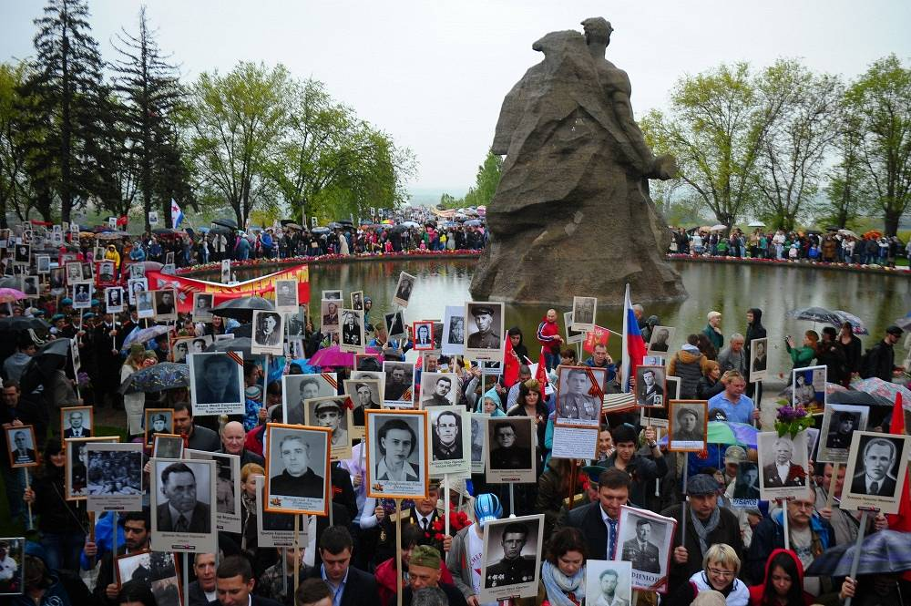 Immortal Regiment rally in Volgograd, formely Stalingrad
