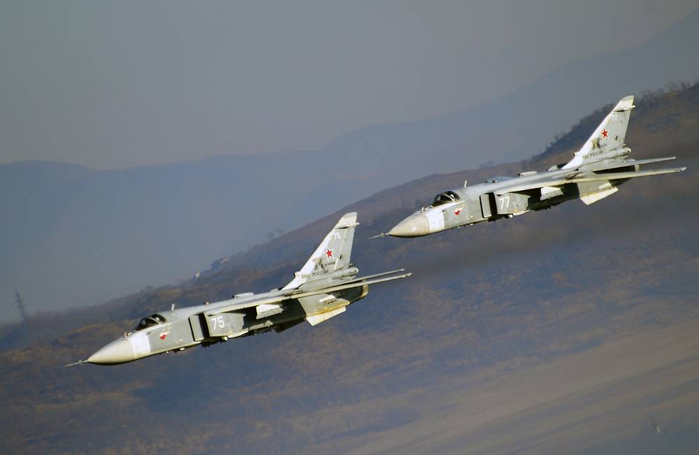 Sukhoi Su-24 supersonic all-weather attack aircrafts