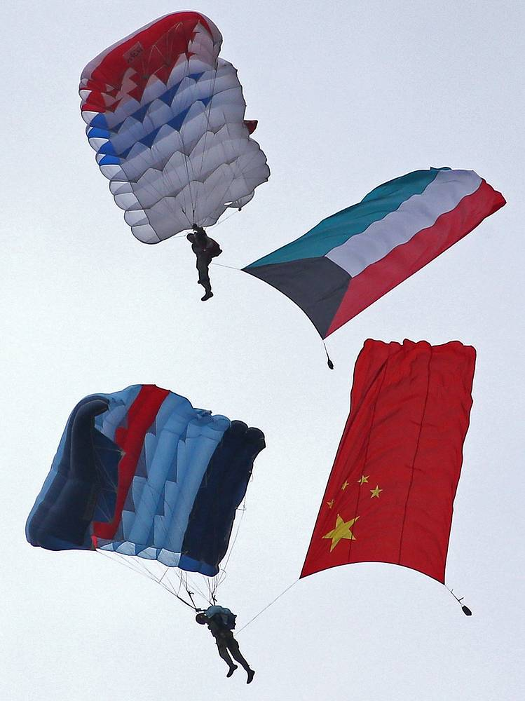 Paratroopers at the 2015 International Army Games