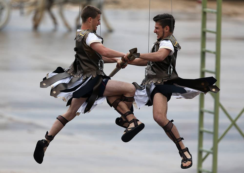 Performers at the opening ceremony of the 2015 International Army Games