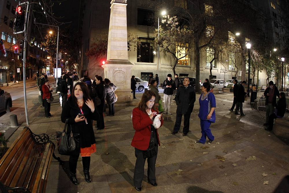 The earthquake rattled the Chilean capital Santiago and other regions of the country