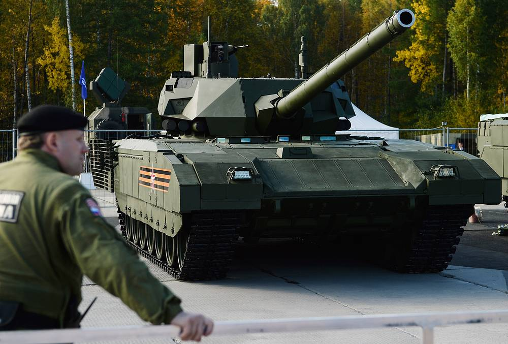 T-14 Armata is a Russian 5th generation main battle tank. Armata is a heavy unified platform created for tanks and infantry fighting vehicles. The new-generation tank boasts an unmanned turret, fully digitalized control and an isolated armored capsule accommodating the crew