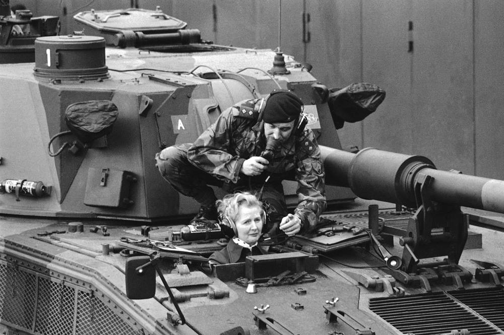 Margaret Thatcher was the longest-serving British Prime Minister of the 20th century and is currently the only woman to have held the office. Photo: Margaret Thatcher visiting the British Rhine Army at Herford and Guetersloh, 1976