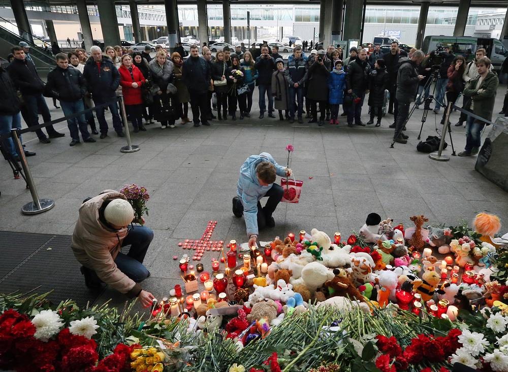 Toys and candles at Pulkovo airport, St Petersburg, Russia