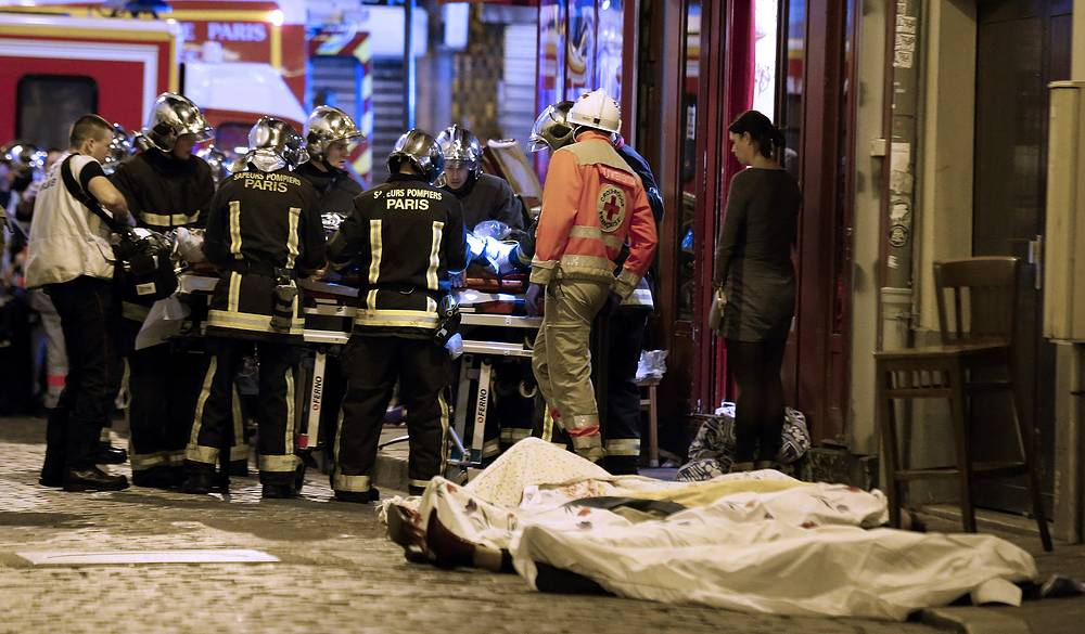 Terrorist attacks in Paris, France on November 13, 2015. Latest reports said that the death toll reached 129 people