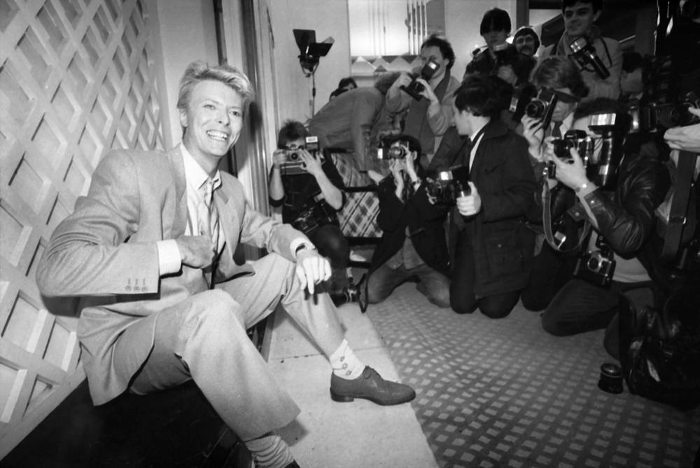 David Bowie at a hotel in London, 1983