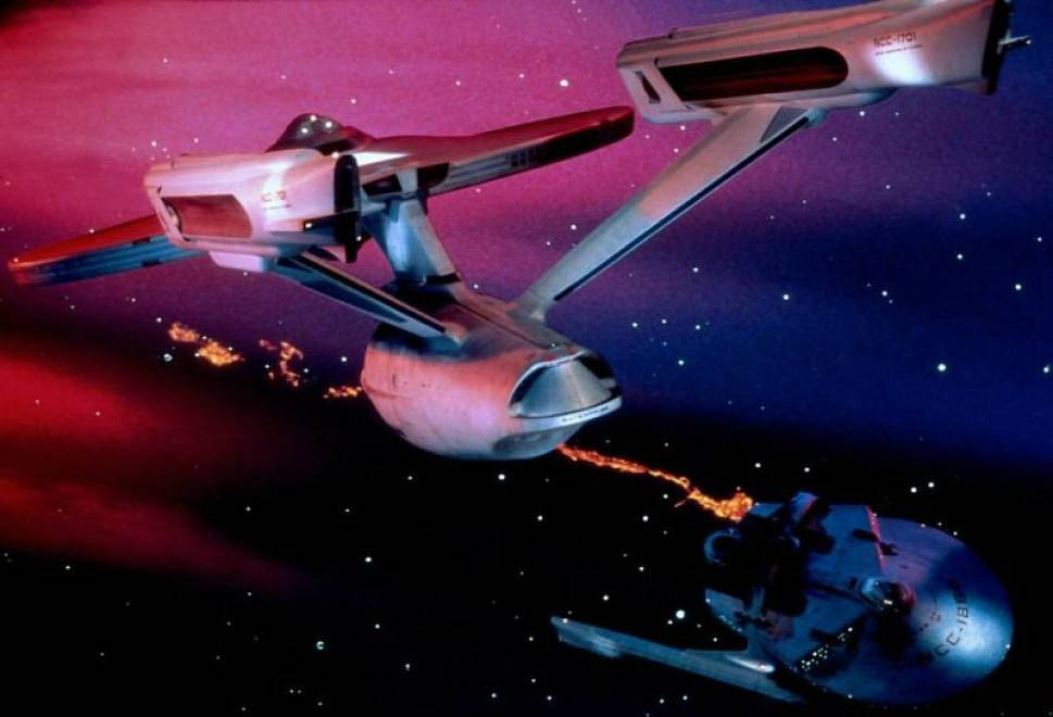 The spaceship from 'Star Trek II'