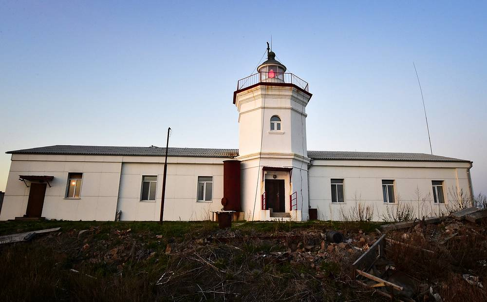 Skryplev lighthouse was built in 1890
