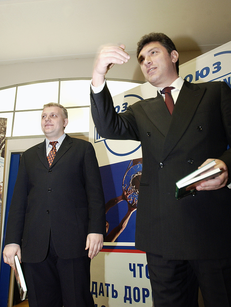 Pavel Sheremet with Russian politician Boris Nemtsov in 2003