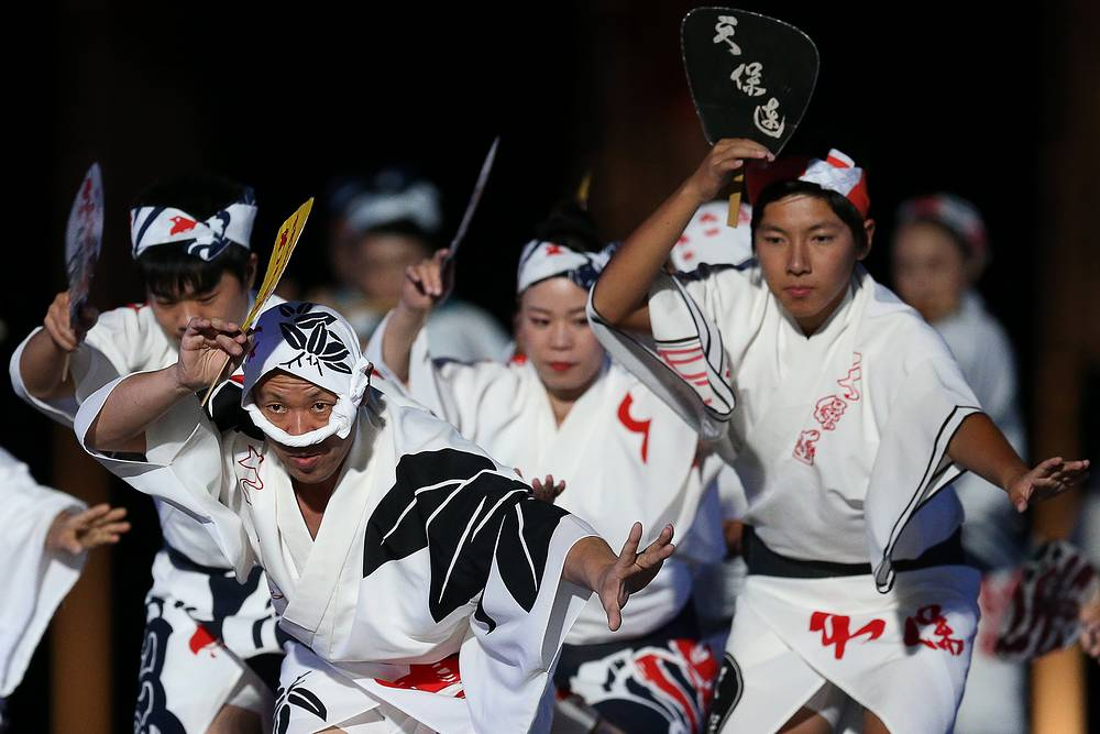 Japan's Awa Odori folklore group