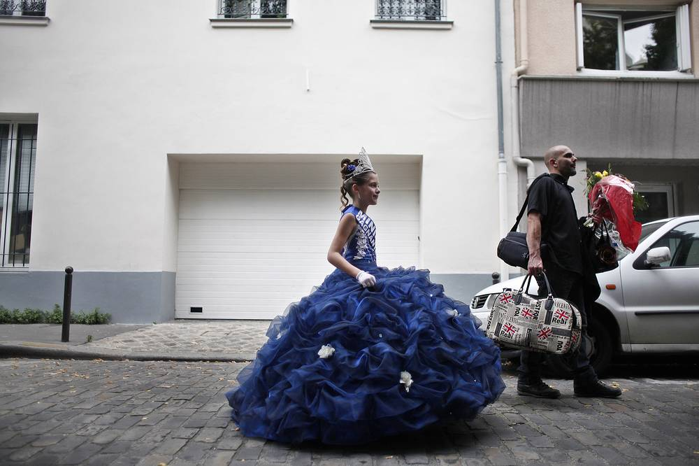 "In 2013, France became the first western country to ban child pageants, on the grounds that they promote the ""hyper-sexualisation"" of minors. Photo: The Mini Miss model beauty contest in Paris"