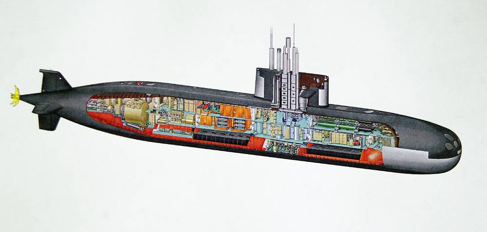 A drawing of the Lada project submarine