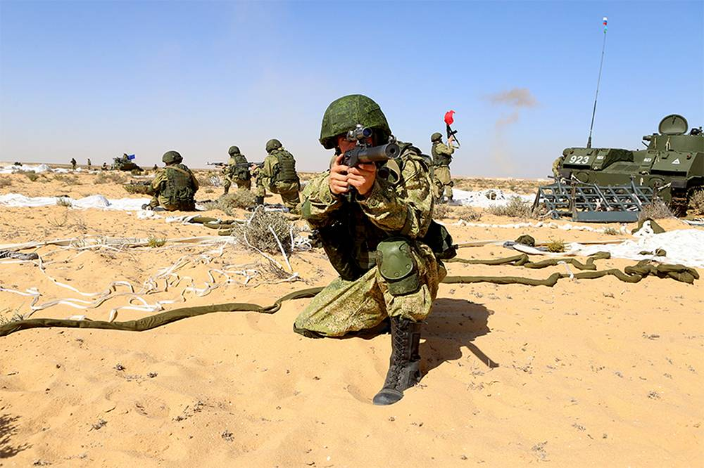 The main phase of the exercise was run by a joint Russian-Egyptian team from a command center at the El-Hammam base