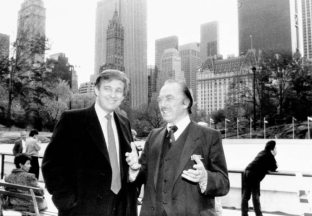 Donald Trump and his father Fred Trump at opening of Wollman Rink, 1987