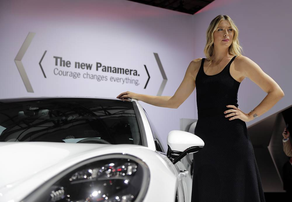 Tennis star Maria Sharapova at Los Angeles Auto Show, November 16
