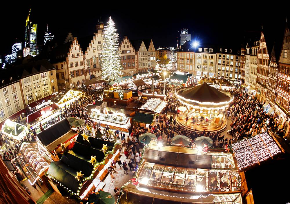 Traditional Christmas Market in Frankfurt, Germany, November 23