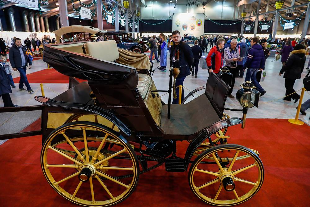 The first Russian car, Freze-Yakovlev automobile (Russia, 1896)