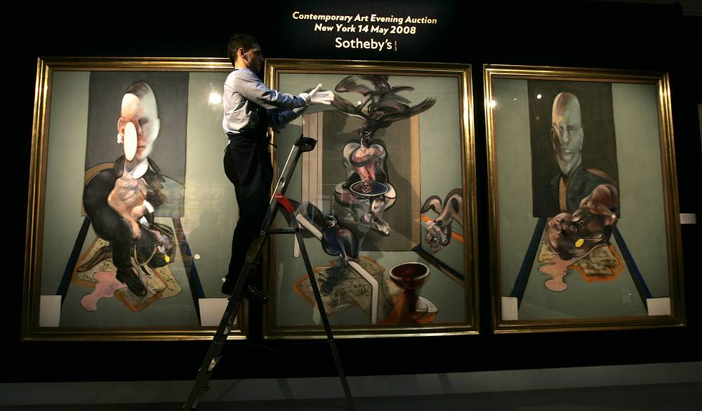 The 1976 triptych by Francis Bacon was bought by Russia's Roman Abramovich for $86,3 mln at Sotheby's New York in 2008