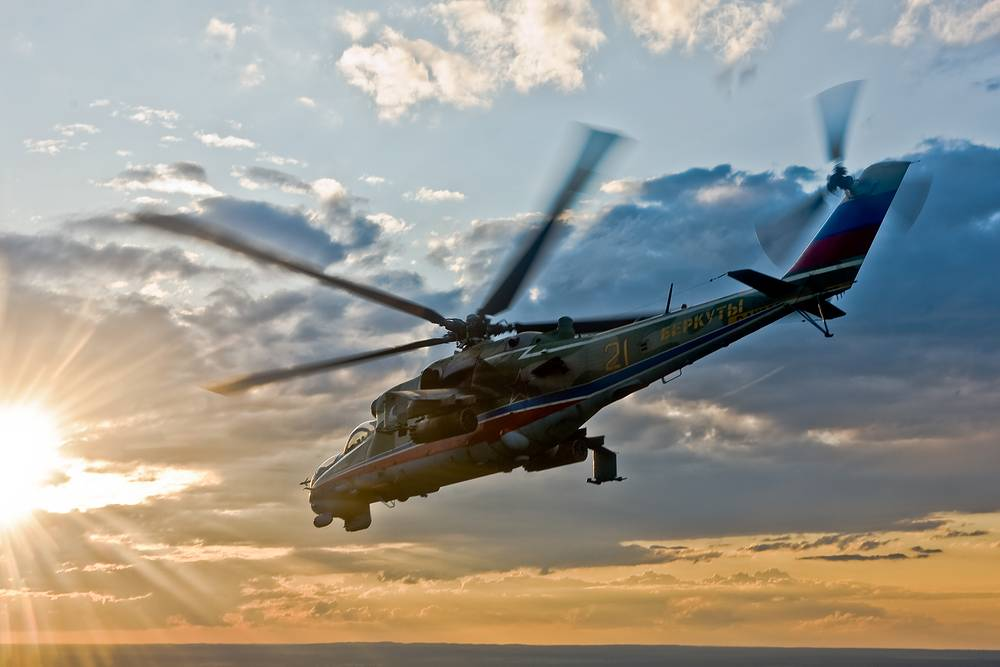 The team was established in 1992 and first time used four, later six, Mi-24 helicopters