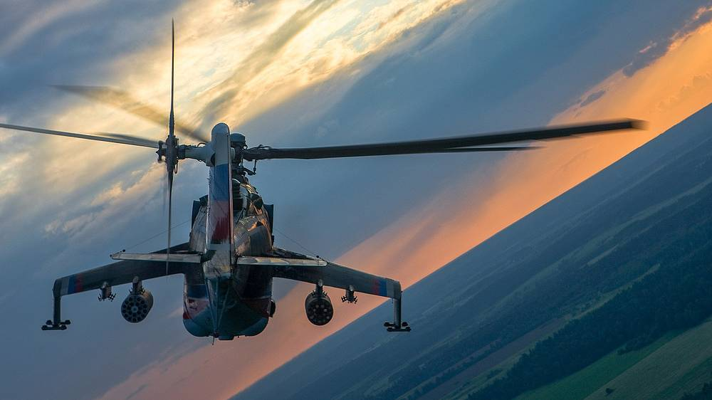 Mi-28N helicopter can operate night and day, and in adverse weather conditions