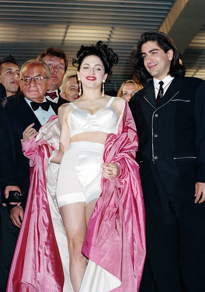 Madonna and director Alek Keshishian at the 44th Cannes Film Festival, 1991