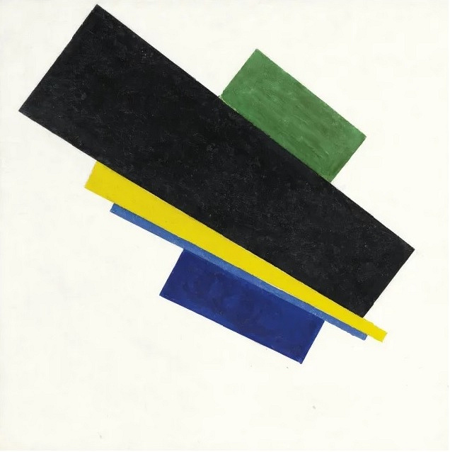 "Malevich's ""Suprematism, 18th Construction"" (1915) was sold for $33,8 million in 2015"