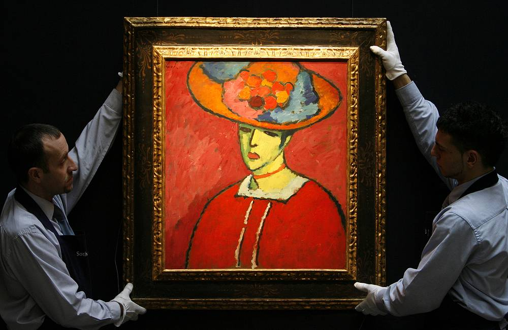 """Alexej von Jawlensky's """"Shokko in a red hat"""" (1910) was sold for $18,6 million at Sotheby's in 2008"""