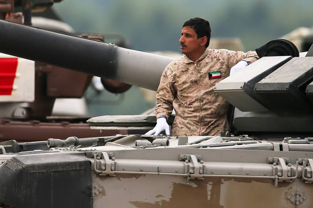 Kuwait tank crew at the 2017 Army Games