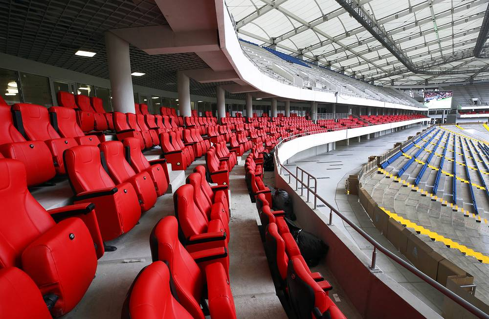 Seats at the construction site of Rostov Arena Stadium