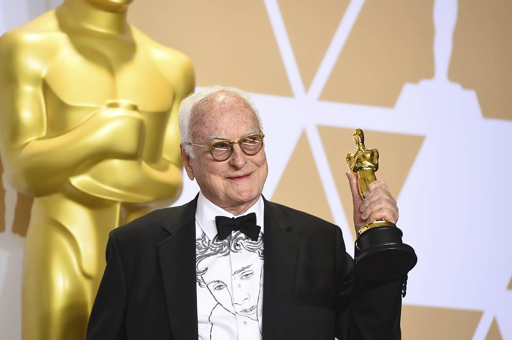 """James Ivory, winner of the award for best adapted screenplay for """"Call Me by Your Name"""""""