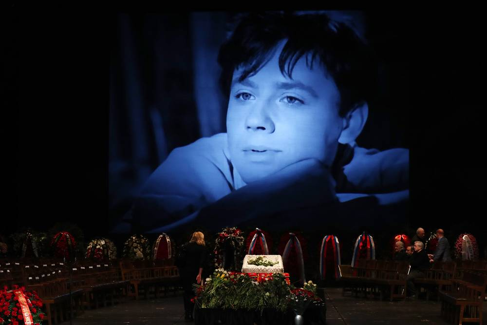 A mourning ceremony for Russian actor Oleg Tabakov at the Chekhov Moscow Art Theatre, Russia, March 15