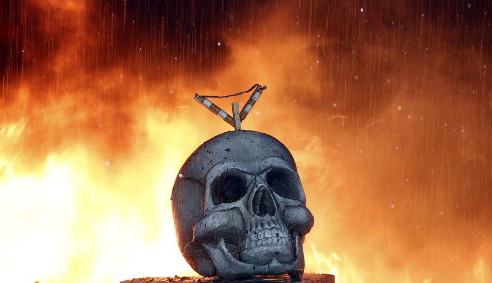 Only the sculpture which is voted best escapes the flames