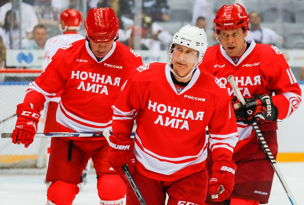 Putin Scores 5 Goals in Exhibition Hockey Game With Former Pros
