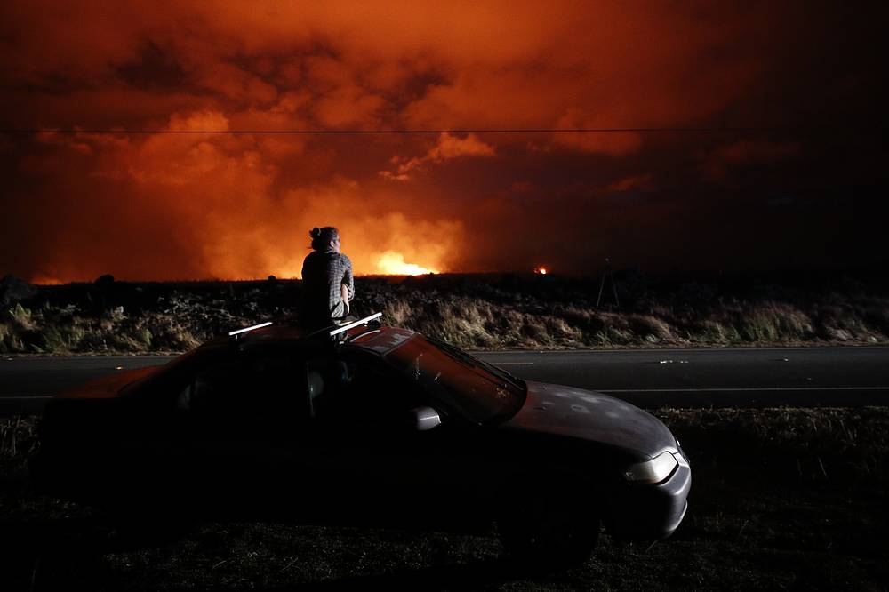 As of May 22, 2018, the ongoing eruption of Kilauea volcano in Hawaii is the largest in decades, destroying more than 40 homes to date, and displacing thousands