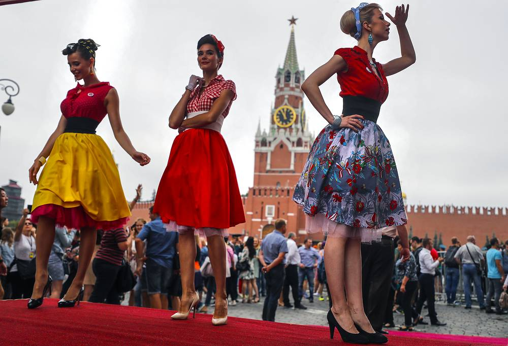 GUM Gorkyclassic Motor Rally featuring classic cars started on July 22 in Moscow