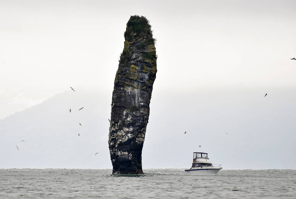 A picturesque stack, or kekur, near Starichkov Island in the southern part of Avacha Bay