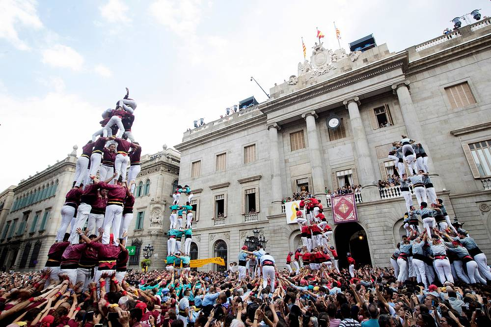 La Merce festival honouring Barcelona's patron saint is considered as one of the biggest celebrations of Catalan culture. It is usually held between September 18-24