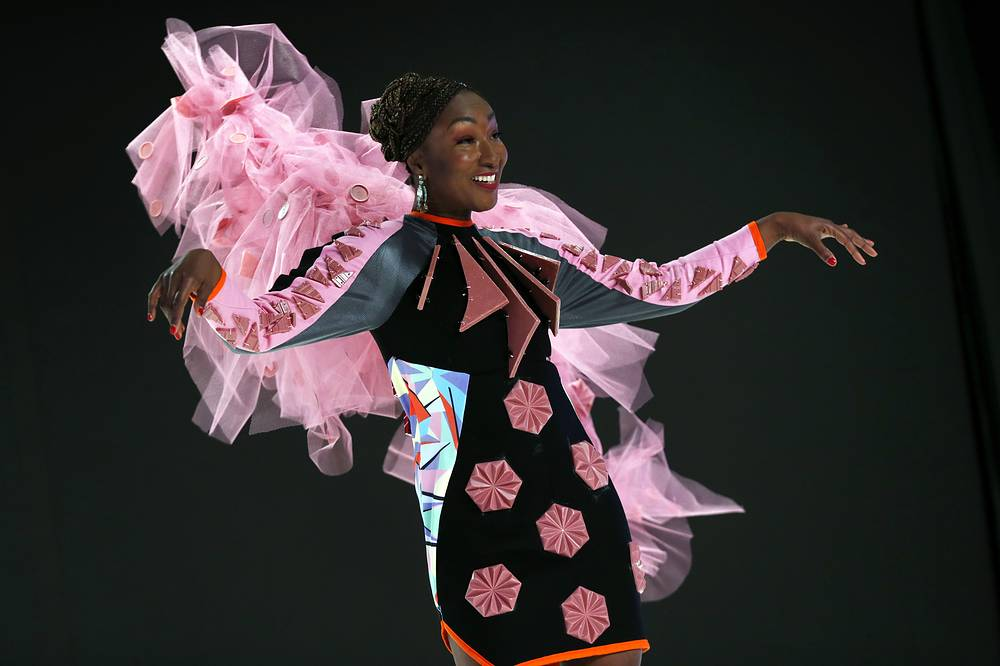 The dresses were jointly made by designers and chocolatiers
