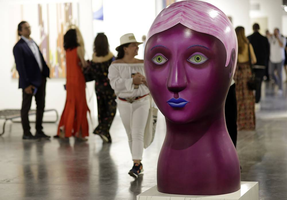 """A sculpture by artist Nicolas Party titled """"Head"""""""