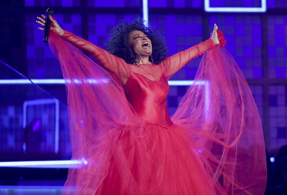 Diana Ross at the 61st annual Grammy Awards