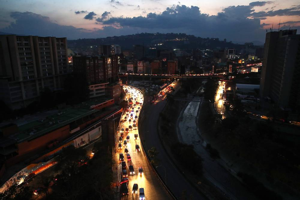 A power outage left much of Venezuela in the dark on March 7 in what appeared to be one of the largest blackouts yet in a country