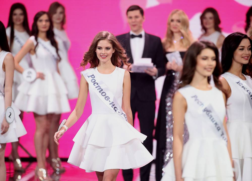 Yelena Razinkova in the final of the 2019 Miss Russia beauty pageant