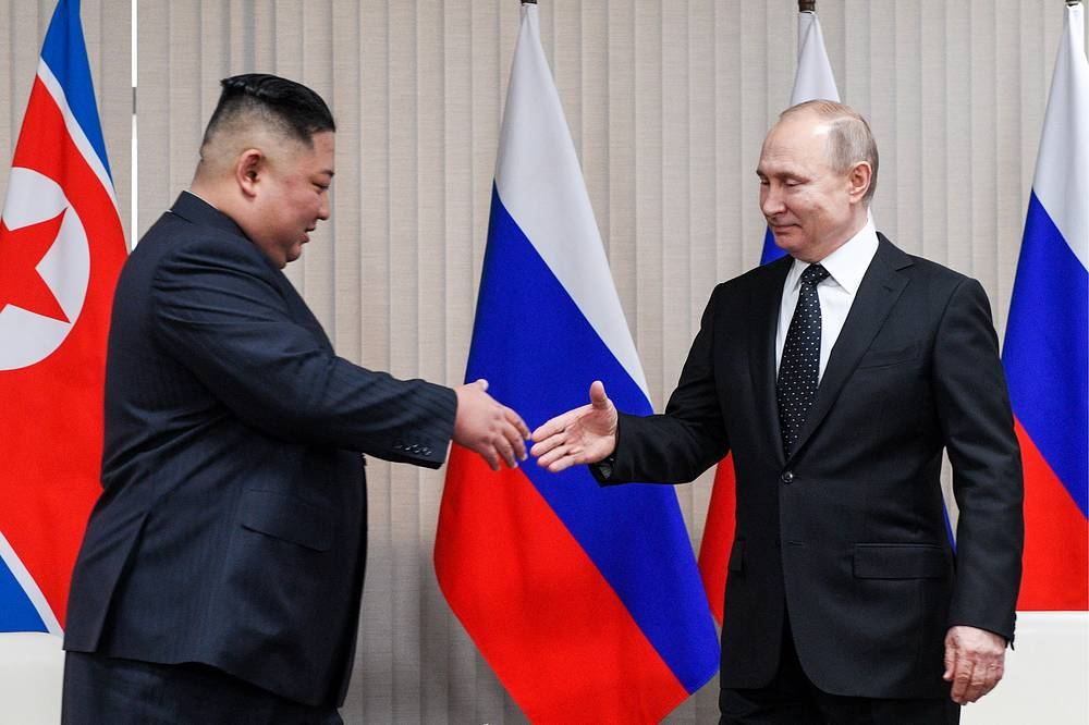 Russian President Vladimir Putin and North Korean leader Kim Jong-un had a face-to-face meeting, which lasted about two hours