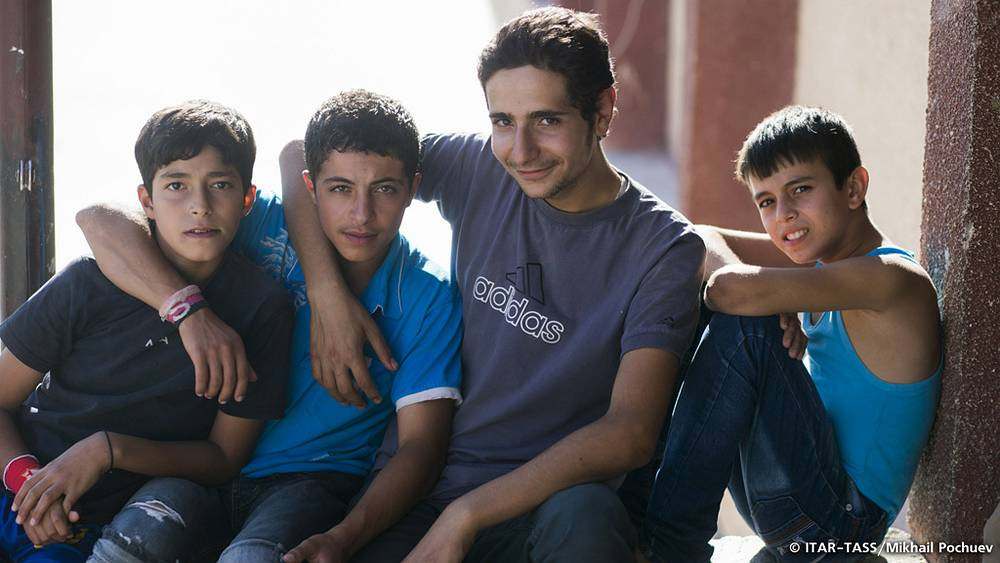 September 19. Refugee children staying in one of Damascus schools.