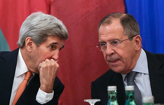 John Kerry (left) and Sergey Lavrov