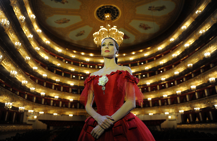 Prima ballerina Svetlana Zakharova during her benefit performance at the State Academic Bolshoi Theatre. April 21, 2013.