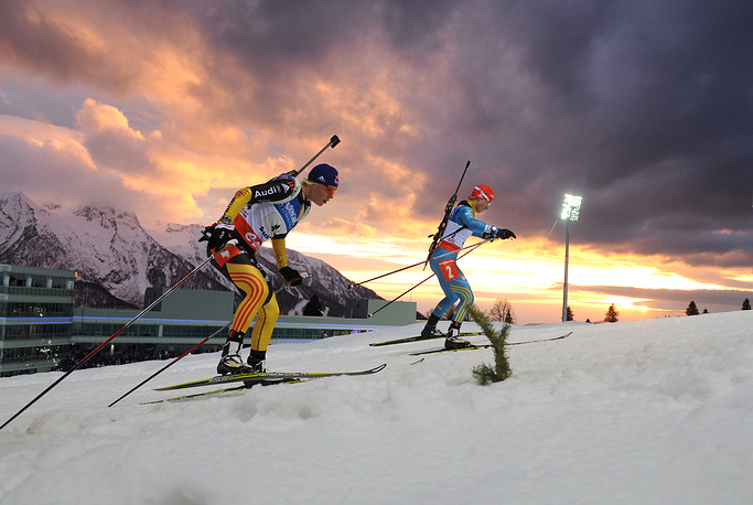 World Cup stage in women's relay in Sochi