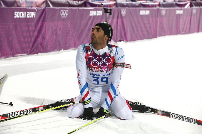 French athlete Martin Fourcade finished 6th