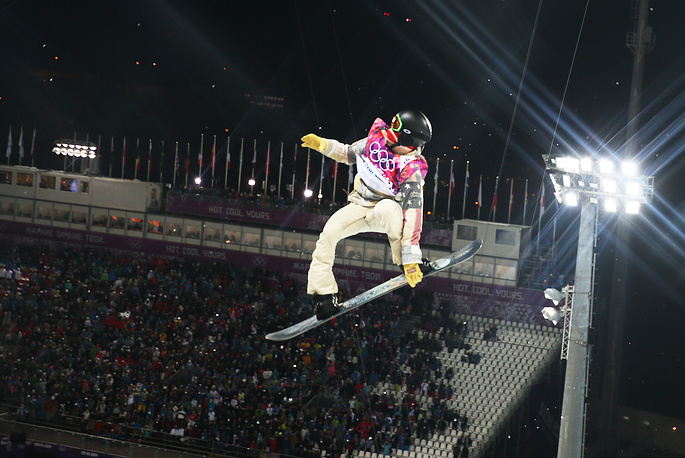 Shaun White of the USA competes in the Men's Snowboard Halfpipe Final