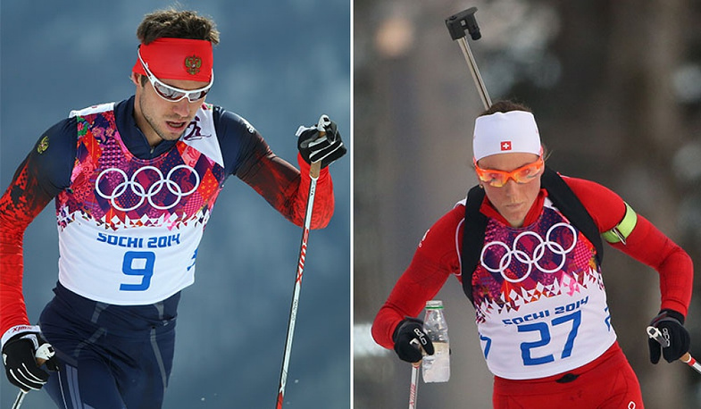 Russian skier Ilya Chernousov is involved with Switzerland's biathlete Selin Gasparin. Selin won a silver medal in Sochi and praised Ilya's contribution to her victory